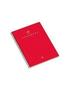 GUERRERO Cuaderno 04 160h A5 Cuadricula 5x5 Rojo