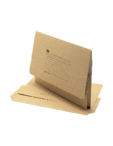 UNISYSTEM Subcarpetas Caja 25 ud Folio Cartulina Kraft superior Tabacco/blanco