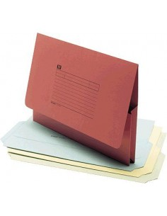 UNISYSTEM Subcarpetas Caja 25 ud Folio Cartulina Con bolsa Amarillo