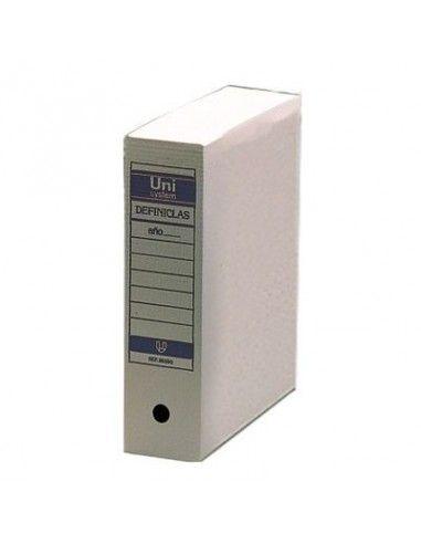 UNISYSTEM Archivador definitivo Definiclas Folio prolongado 388 x 275 x 116mm Blanco