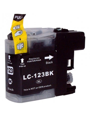 TINTA NEGRA COMPATIBLE PARA BROTHER LC121BK/LC123BK