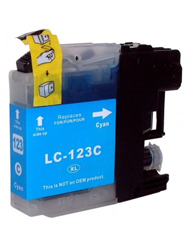 BROTHER LC121BK/LC123BK TINTA CIAN COMPATIBLE