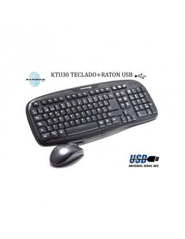 TECLADO COMBO TECLADO + RATON USB KTU30