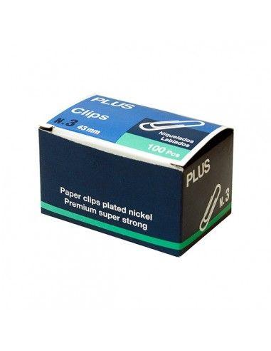 Caja de 100 clips labiados nº 3 - 43mm