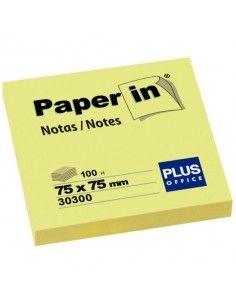Blocs notas reposicionables Paper in amarillas 75x75 mm