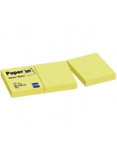 BLOC NOTAS ADHESIVAS REPOSICIONABLES PAPER IN AMARILLAS 40X50MM