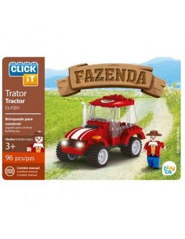 Juego de bloques Click-It Granja: tractor