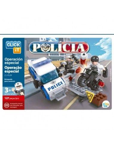 Juego de bloques Click-It Polícía: Operación Especial