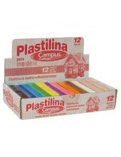 Plastilina Campus College colores surtidos (12 barras)