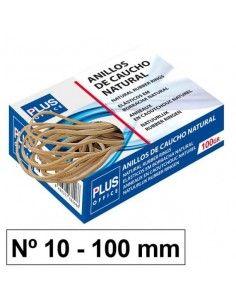 Gomas elásticas Plus Office Nº10 Caja de 100gr.