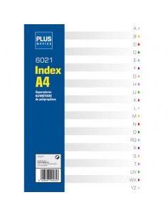 Separadores alfabéticos de polipropileno Plus Office 20 separadores