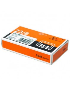 Grapas Plus Office 23/8 galvanizadas (1000uds./caja)