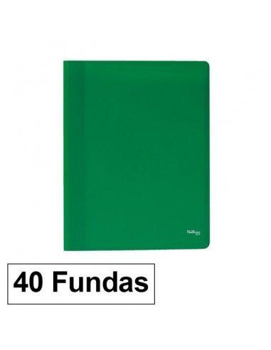 Carpeta Flexible con 40 fundas Plus Office A4 verde