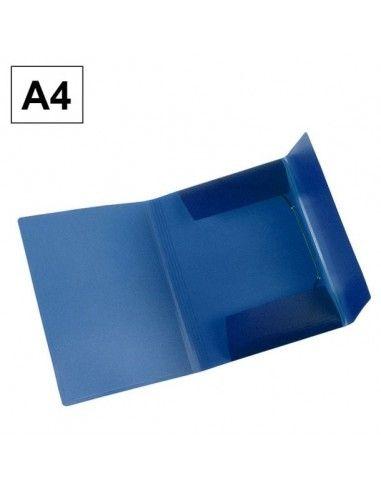 Carpeta Plus Office A4 polipropileno gomas y solapas azul