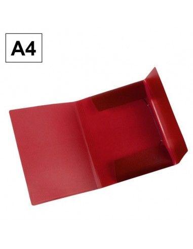 Carpeta Plus Office A4 polipropileno gomas y solapas rojo