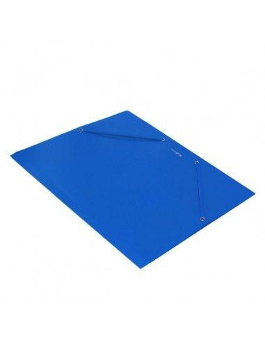 Carpeta Plus Soft A4 gomas y solapas polipropileno azul
