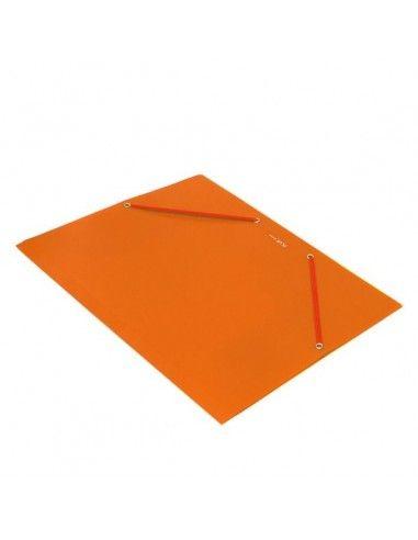 Carpeta Plus Soft A4 gomas y solapas polipropileno naranja