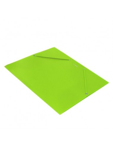 Carpeta Plus Soft A4 gomas y solapas polipropileno verde claro