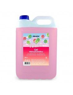 Prady Gel Hidroalcoholico Higienizante 5L - Aroma de Piruleta - Alcohol 70%