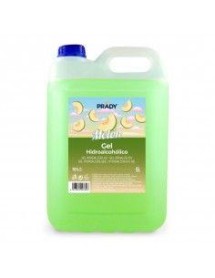 Prady Gel Hidroalcoholico Higienizante 5L - Aroma de Melon - Alcohol 70%