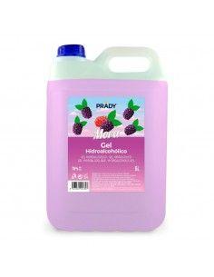 Prady Gel Hidroalcoholico Higienizante 5L - Aroma de Mora - Alcohol 70%