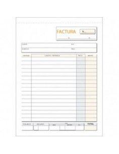 TALONARIO FACTURAS 145X207 T-65 NATURAL TRIPLICADO AUTOCOPIA (50 JUEGOS)