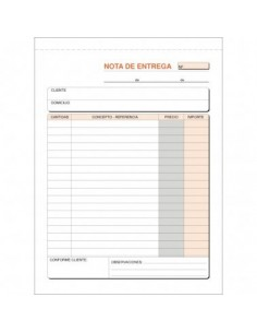 TALONARIO ENTREGAS 145X207 T-91 NATURAL DUPLICADO AUTOCOPIA (50 JUEGOS)