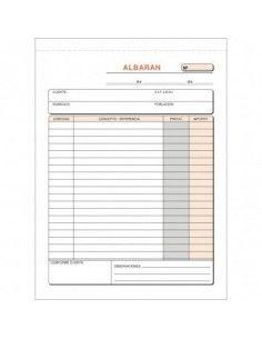 TALONARIO ALBARANES 145X207 T-120 DUPLICADO AUTOCOPIA (50 JUEGOS)