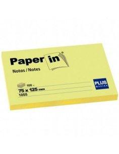 BLOC NOTAS ADHESIVAS REPOSICIONABLES PAPER IN AMARILLAS 75X125MM