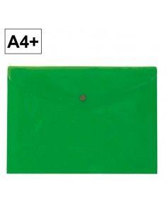 Sobre 2020 A4+ PP verde apaisado broche Plus Office