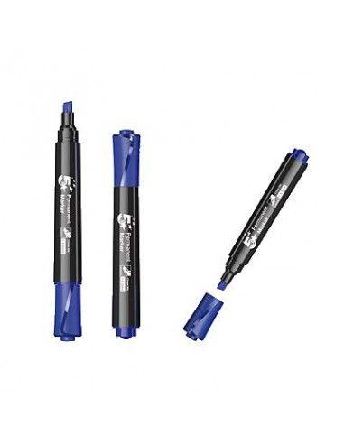 5 STAR Marcador permanente Trazo 1-4 mm Punta biselada Azul